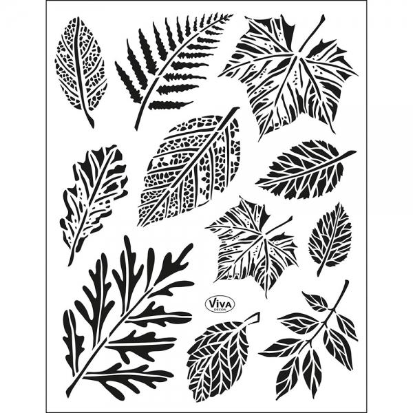 Clearstamps Blätter als jahreszeitunabhängiges Dekoelement in einer Sammlung von Stempeln