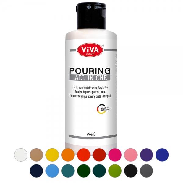Pouring All in One - vorgemischte und gebrauchsfertige Pouring-Farben