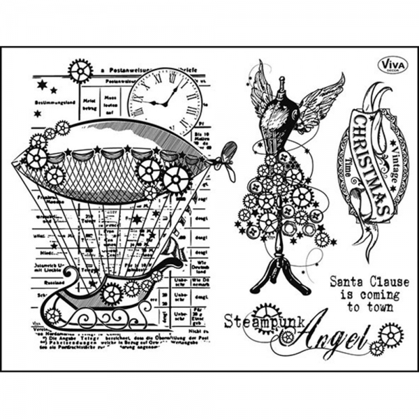Clearstamps Silikonstempel Steampunk Angel