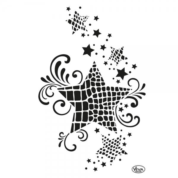 Universalschablone Stern mit Animalprint