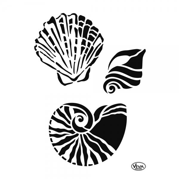 Universalschablone mit 3 verschiedenen Muscheln