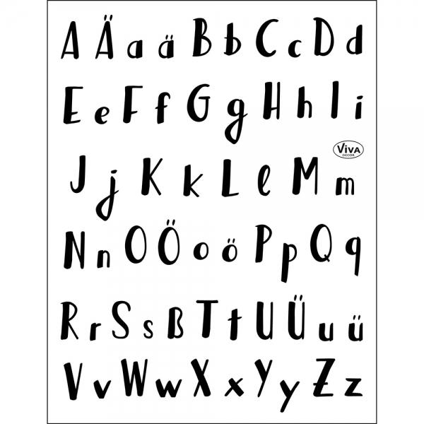 Clearstamps Buchstaben-Stempel, Alphabet für das Lettering