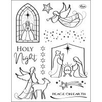 Silikonstempel-Set - Holy Night