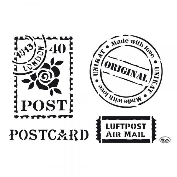 Universalschablone A4 Postkarte