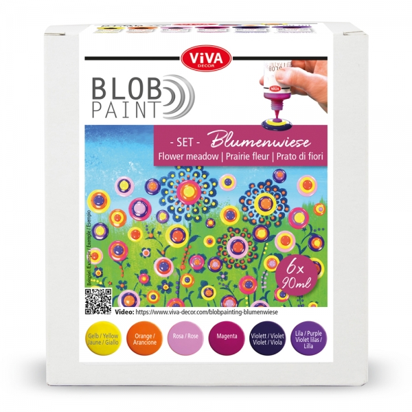 Blob Paint-Set Blumenwiese 6-teilig