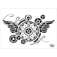 Universalschablone A5 Steampunk Uhr