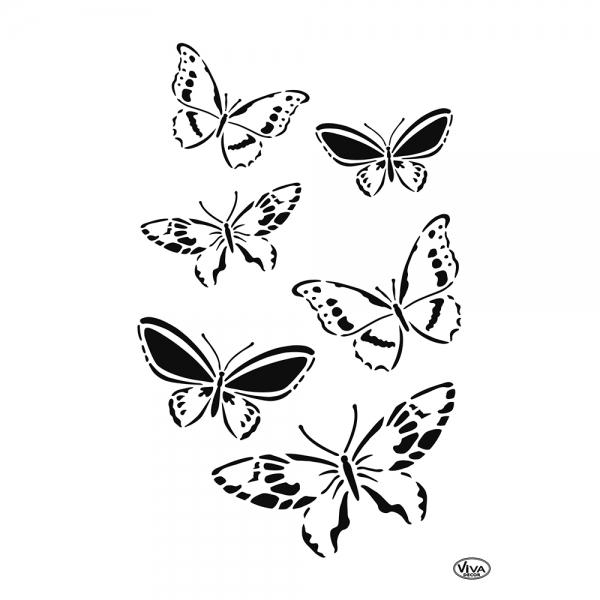 Universalschablone Schmetterlingsschwarm