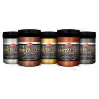 Metallic Acrylfarbe 5er Set - Silbergrau, Kupfer, Gold, Bronze und Silber