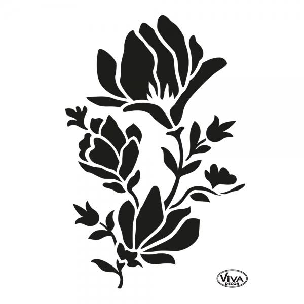Universalaschablone Magnolie