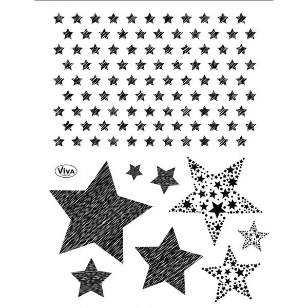 Clearstamps - verschiedene Sterne in einem großen Stempelset