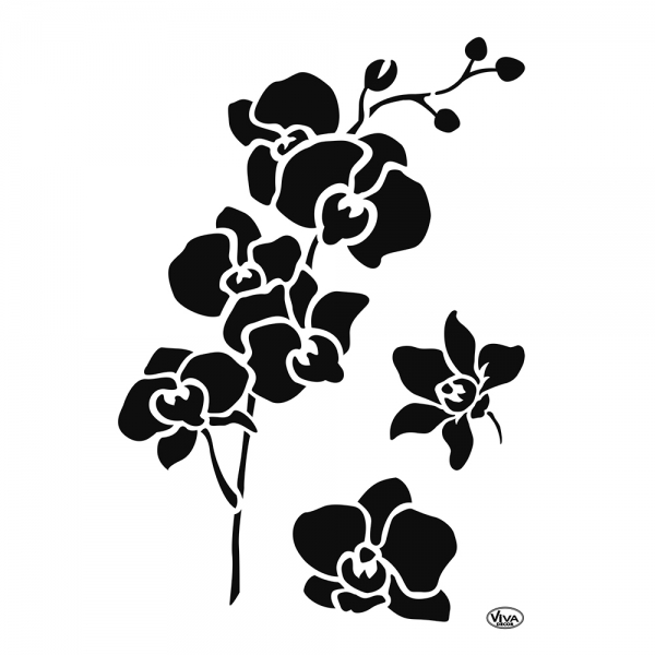 Universalschablone Orchidee