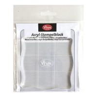 Acryl-Stempelblock für Silikonstempelplatten