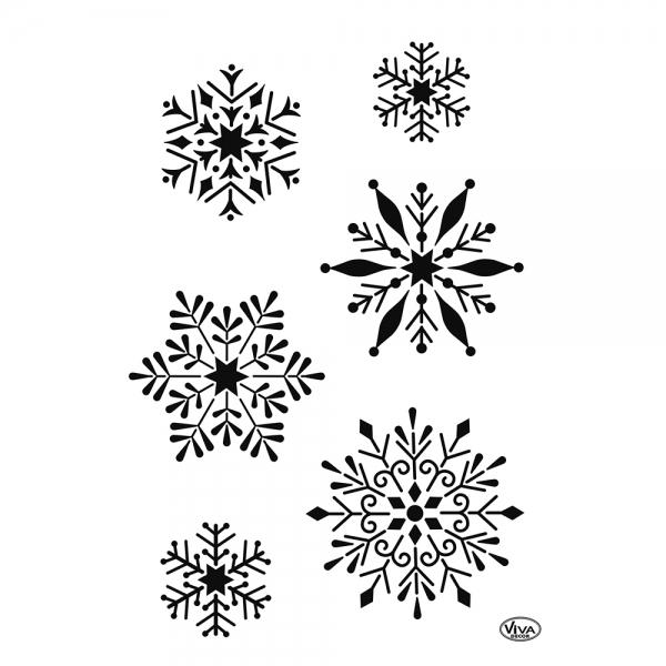 Universalschablone Schneeflocken