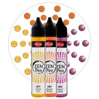 Zen-Pen im 3er Pack - Farben Gelb, Orange, Violett