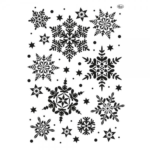 Universalschablone Schneesterne Schneeflocken