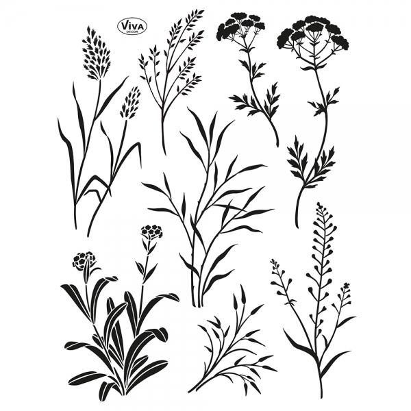 Clearstamps - verschiedene Gräser in einer Stempelsammlung