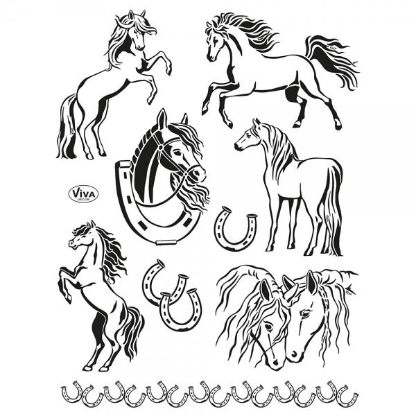Clearstamps Stempelsammlung mit Pferden