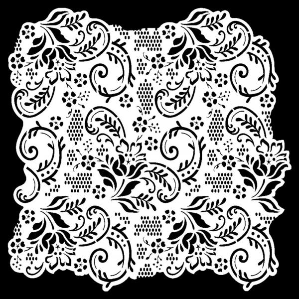 Hintergrund-Universalschablone mit Muster von Spitze