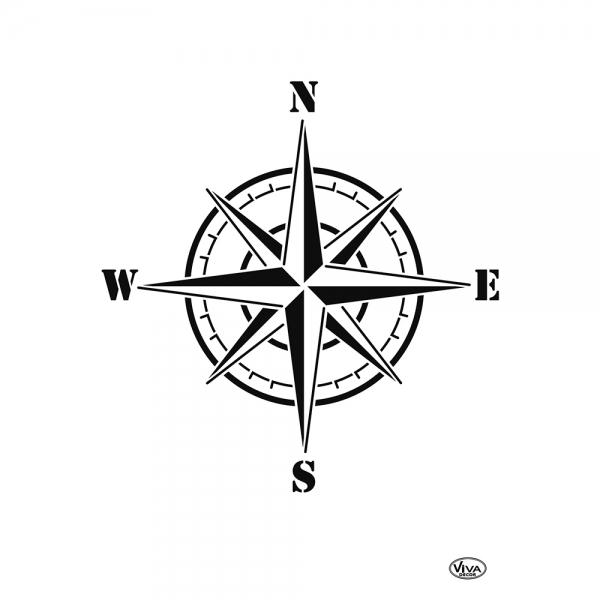 Universalschablone Windrose