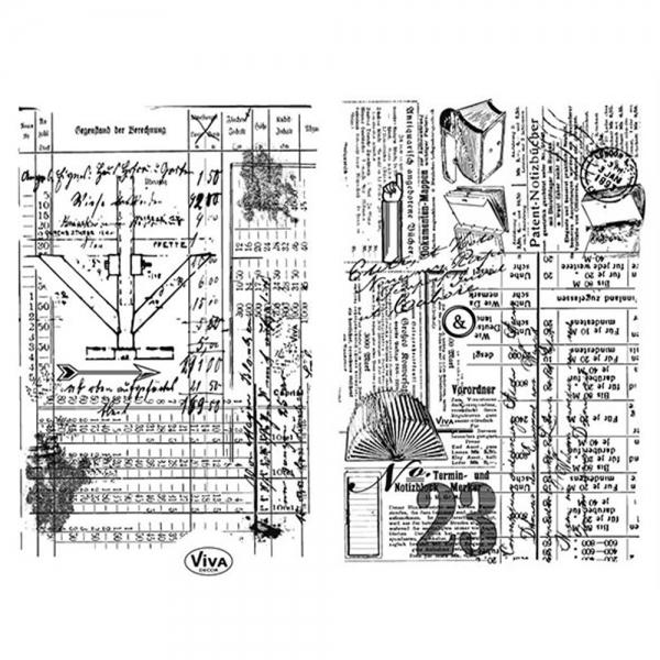 Clearstamp Stempelmotiv für den Hintergrund alte Skizzen