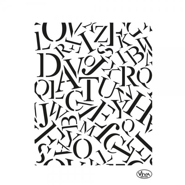 Universalschablone Buchstaben Allover
