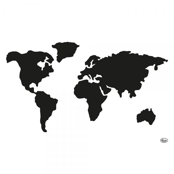 Universalschablone Weltkarte