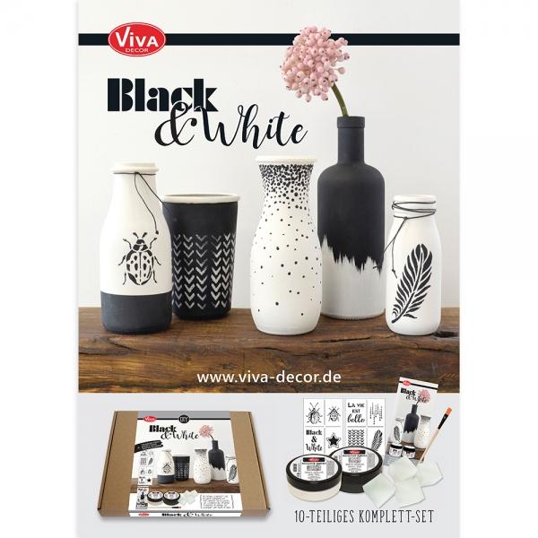 A3 Poster Keramik-Effekt Black & White