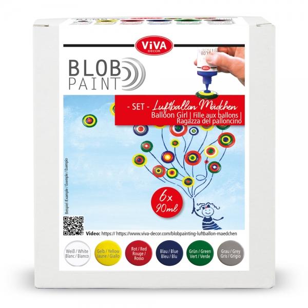 Blob Paint-Set Luftballon Mädchen