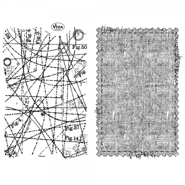 ClearStamps Hintergründe Schneiderei Textil 2erSet