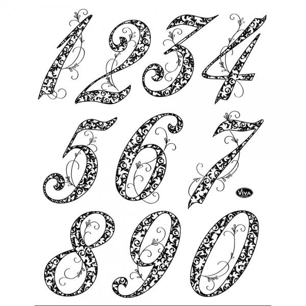 Clearstamp Silikonstempelsammlung Zahlen zum Jubiläum