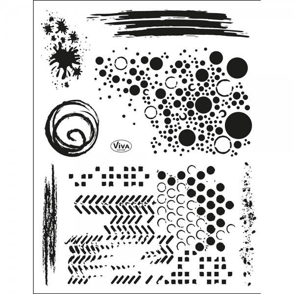 Clearstamps Stempelset für Hintergründe im Grunge-Look