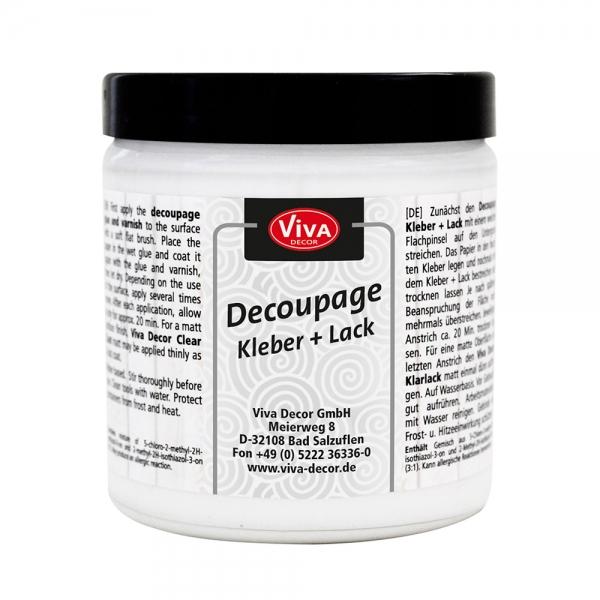 Decoupage Kleber und Lack in der Dose