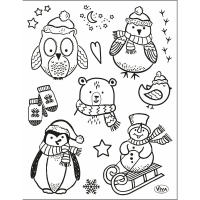 Silikonstempel - Little Winter Friends