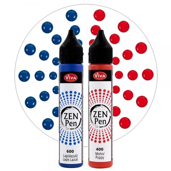 Zen-Pen Mut und Kraft - 2 Farben Rot und Blau
